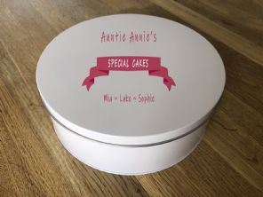Shabby Personalised chic AUNTIE AUNTY AUNT Cake Biscuit Tin BAKER gift ANY NAME - 332815650415